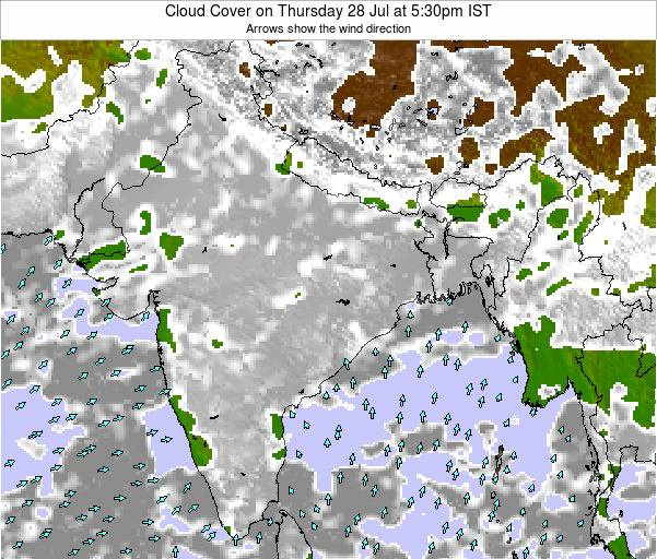 Bangladesh Cloud Cover on Wednesday 12 Mar at 5:30pm IST