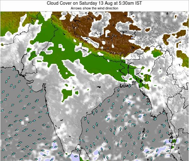 India Cloud Cover on Sunday 31 May at 11:30am IST