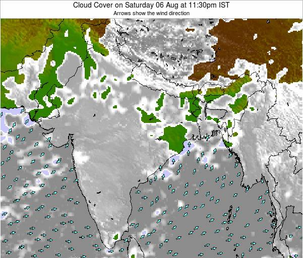 Bangladesh Cloud Cover on Sunday 31 May at 5:30am IST