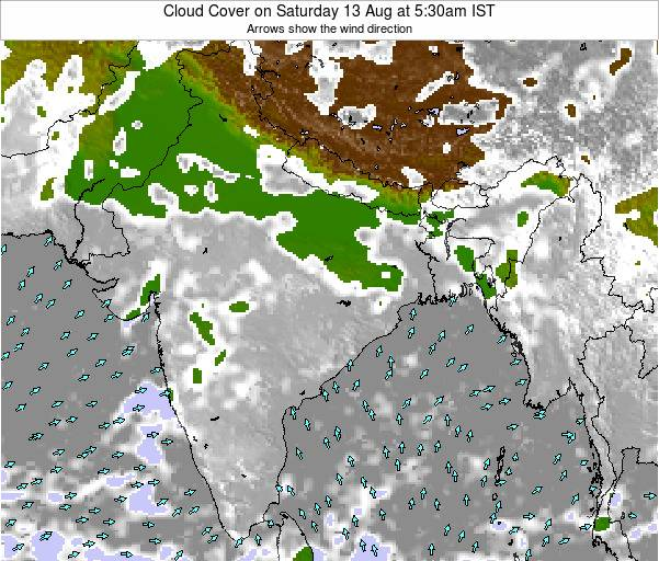 Bangladesh Cloud Cover on Saturday 26 Apr at 5:30am IST