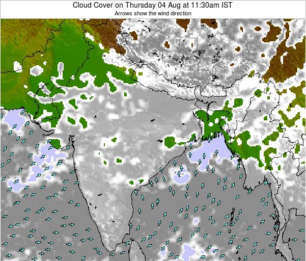 Bangladesh Cloud Cover on Wednesday 30 Apr at 5:30pm IST