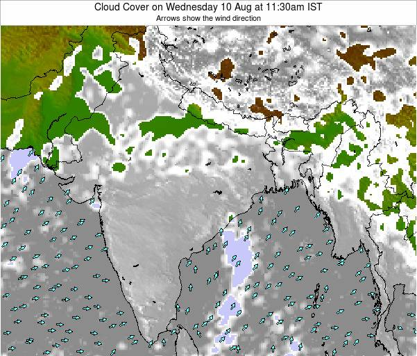 India Cloud Cover on Sunday 16 Mar at 5:30am IST