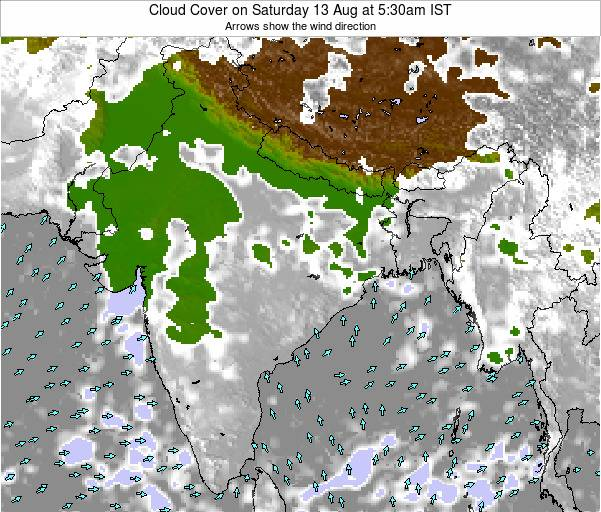 Bangladesh Cloud Cover on Wednesday 29 May at 11:30am IST