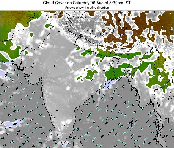 Bangladesh Cloud Cover on Wednesday 30 Apr at 11:30am IST