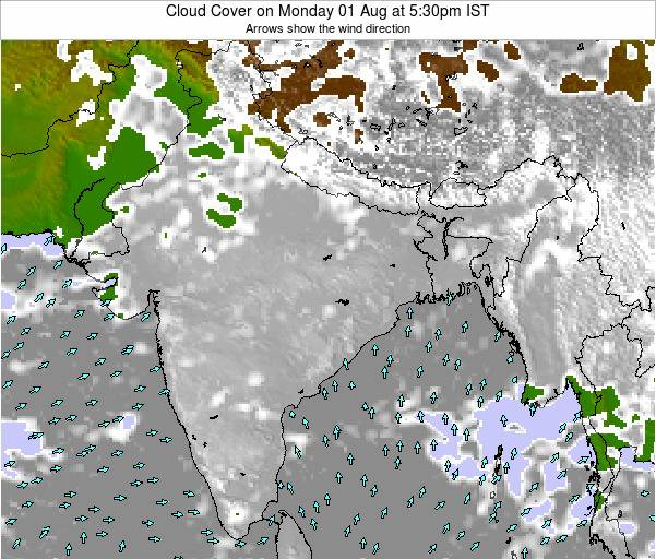Bangladesh Cloud Cover on Tuesday 03 Feb at 11:30am IST