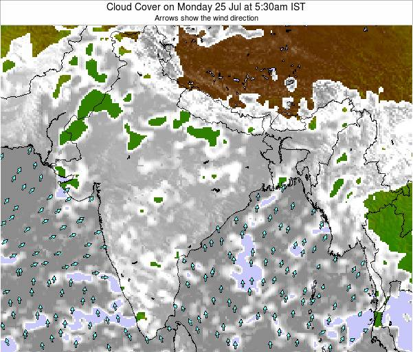 Bangladesh Cloud Cover on Sunday 26 May at 5:30pm IST