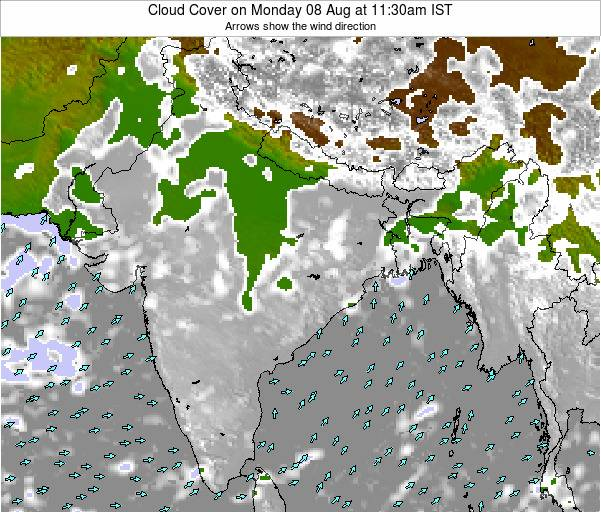 India Cloud Cover on Sunday 15 Dec at 5:30pm IST
