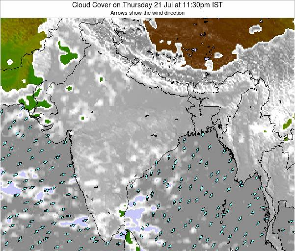 Bangladesh Cloud Cover on Saturday 25 May at 5:30pm IST