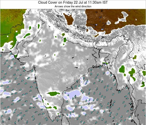 Bangladesh Cloud Cover on Tuesday 28 May at 5:30pm IST