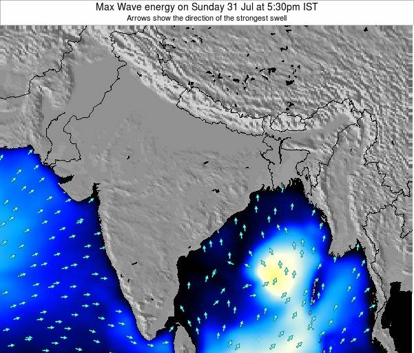 Bangladesh Max Wave energy on Friday 08 Aug at 11:30pm IST