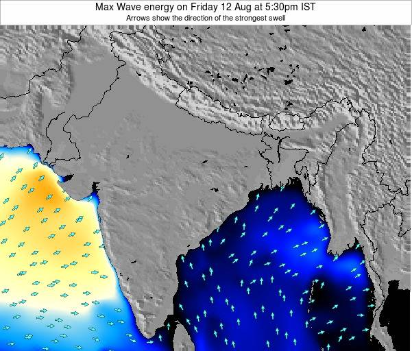 Bangladesh Max Wave energy on Saturday 14 Dec at 5:30pm IST