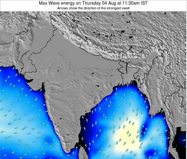 Bangladesh Max Wave energy on Saturday 15 Mar at 5:30pm IST