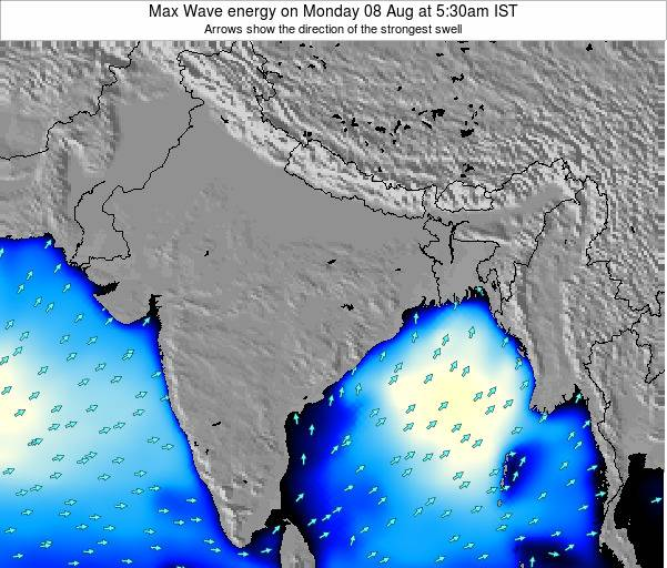 Bangladesh Max Wave energy on Saturday 02 Aug at 11:30am IST