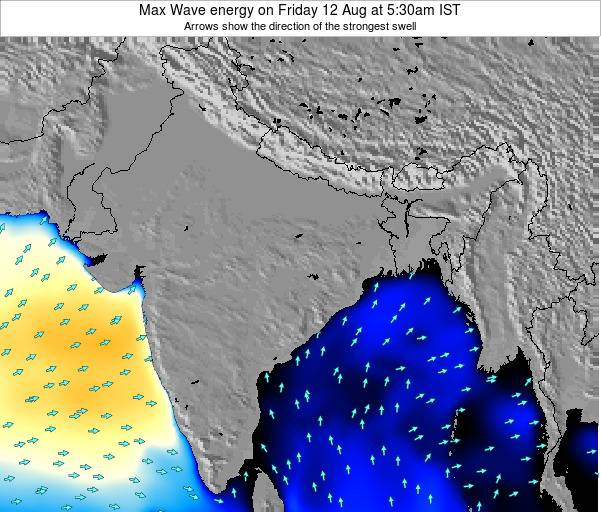 Bangladesh Max Wave energy on Thursday 01 May at 11:30pm IST