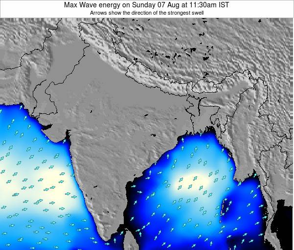 Bangladesh Max Wave energy on Friday 13 Dec at 11:30am IST