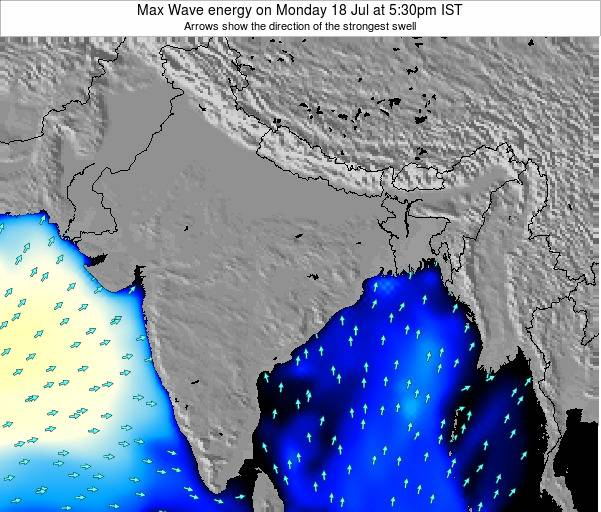Bangladesh Max Wave energy on Tuesday 27 Jun at 11:30pm IST