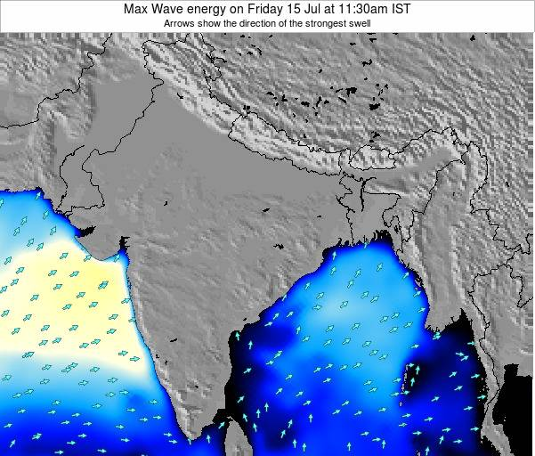 Bangladesh Max Wave energy on Thursday 24 Apr at 11:30am IST