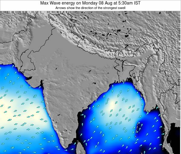 Bangladesh Max Wave energy on Sunday 19 May at 5:30am IST