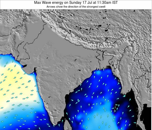 Bangladesh Max Wave energy on Friday 19 Dec at 11:30am IST