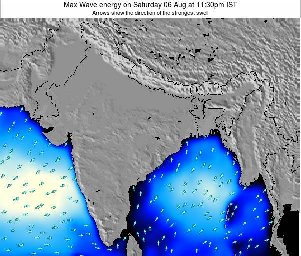 Bangladesh Max Wave energy on Wednesday 30 Jul at 5:30am IST
