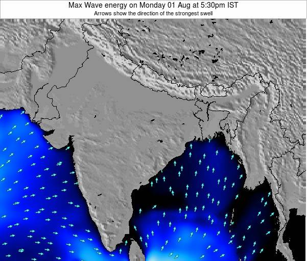 Bangladesh Max Wave energy on Wednesday 05 Aug at 5:30pm IST