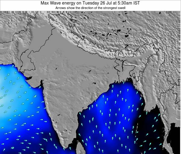 Bangladesh Max Wave energy on Saturday 22 Jun at 11:30pm IST