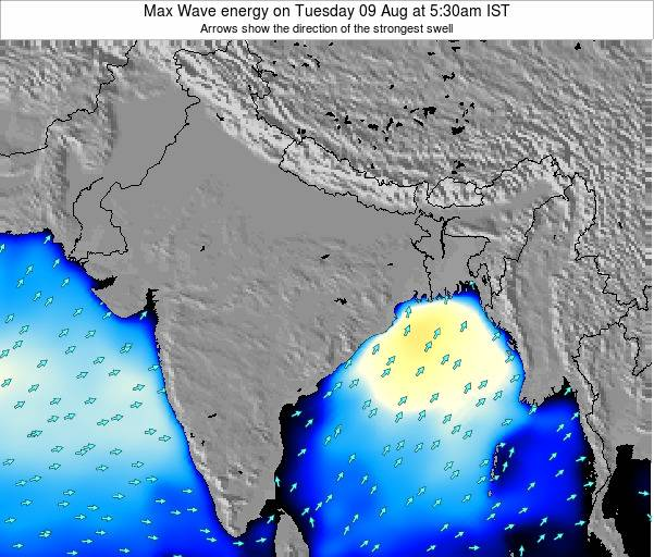 Bangladesh Max Wave energy on Monday 27 May at 5:30pm IST
