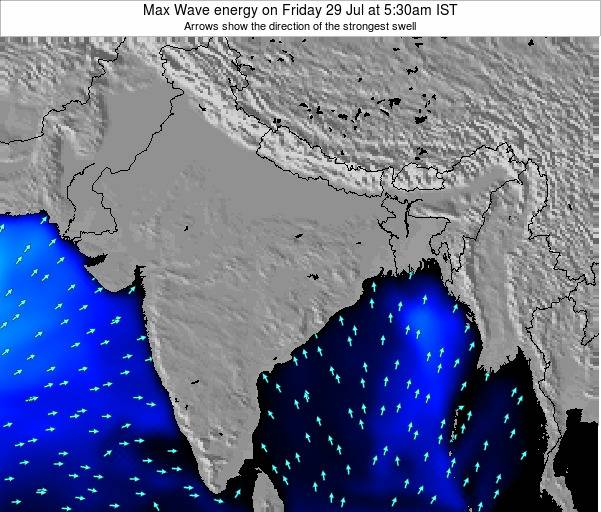 Bangladesh Max Wave energy on Monday 21 Apr at 5:30am IST
