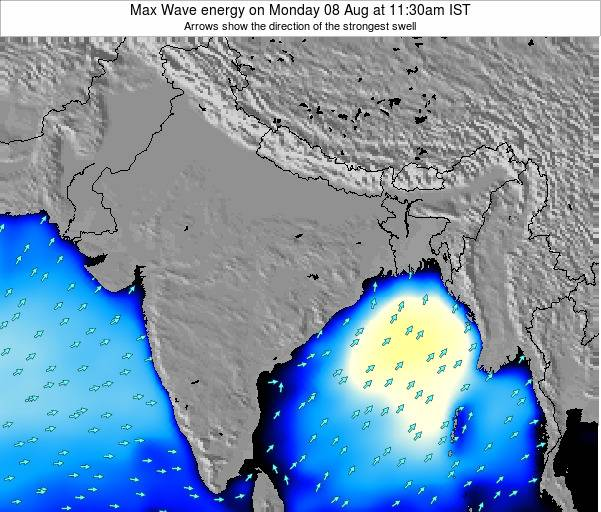 Bangladesh Max Wave energy on Wednesday 01 Jun at 11:30pm IST