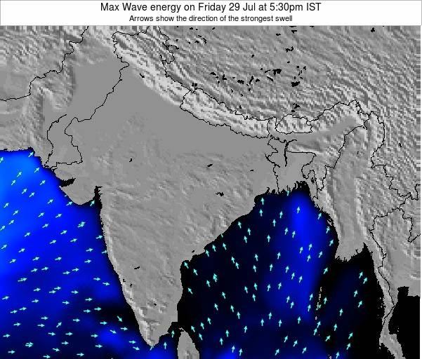Bangladesh Max Wave energy on Saturday 02 Aug at 5:30am IST