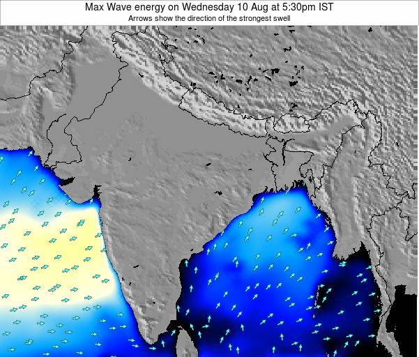Bangladesh Max Wave energy on Saturday 15 Mar at 11:30am IST