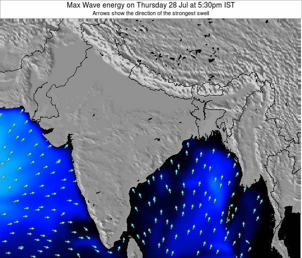 Bangladesh Max Wave energy on Monday 21 Apr at 11:30am IST