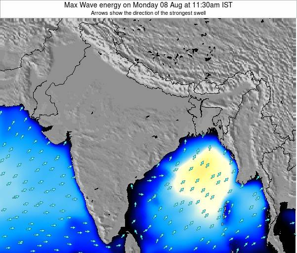 Bangladesh Max Wave energy on Wednesday 29 Apr at 11:30pm IST