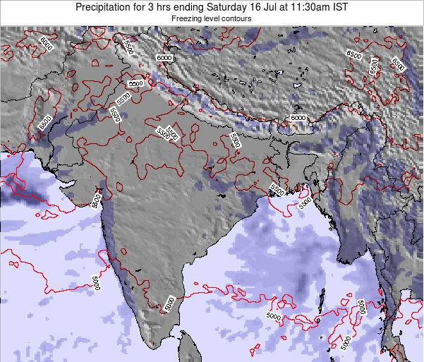 Bangladesh Precipitation for 3 hrs ending Thursday 31 Jul at 11:30pm IST