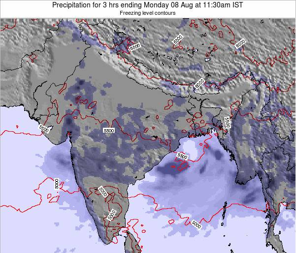 Bangladesh Precipitation for 3 hrs ending Sunday 27 Apr at 5:30am IST