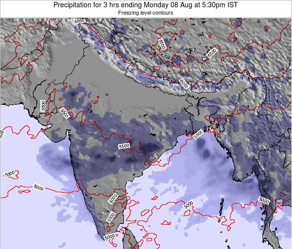 Bangladesh Precipitation for 3 hrs ending Sunday 27 Jul at 11:30pm IST