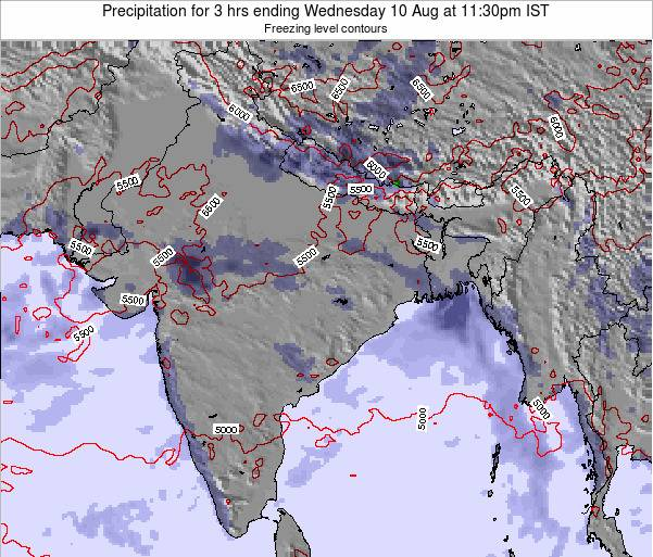 Bangladesh Precipitation for 3 hrs ending Saturday 15 Mar at 5:30pm IST