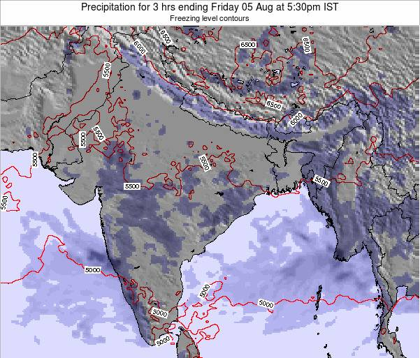 Bangladesh Precipitation for 3 hrs ending Thursday 23 May at 11:30pm IST