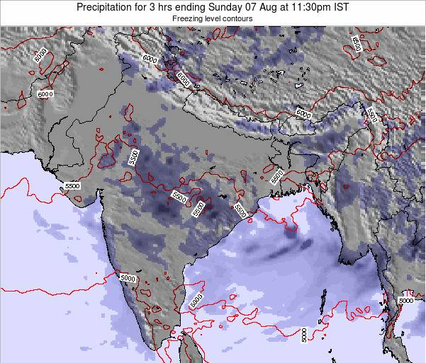 Bangladesh Precipitation for 3 hrs ending Tuesday 22 Apr at 11:30pm IST
