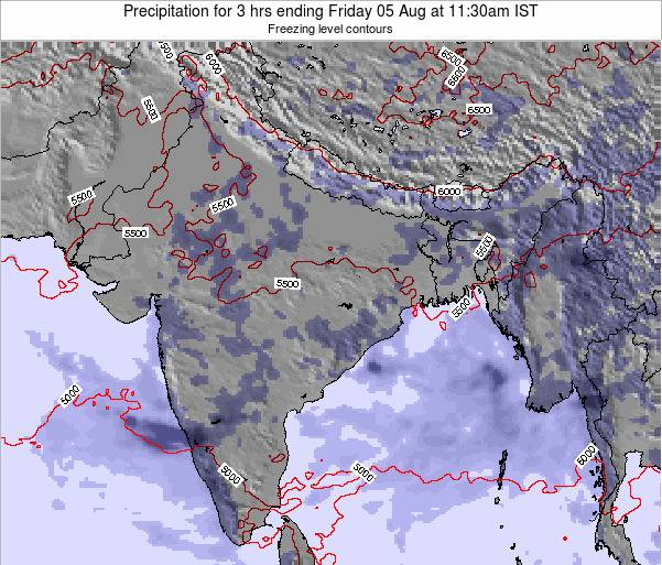 Bangladesh Precipitation for 3 hrs ending Thursday 11 Feb at 11:30am IST