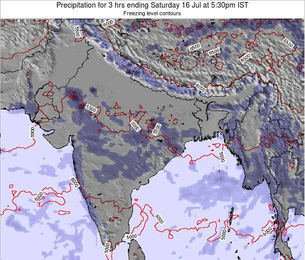 Bangladesh Precipitation for 3 hrs ending Tuesday 11 Mar at 5:30pm IST