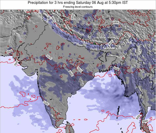 Bangladesh Precipitation for 3 hrs ending Thursday 28 Jun at 5:30am IST map