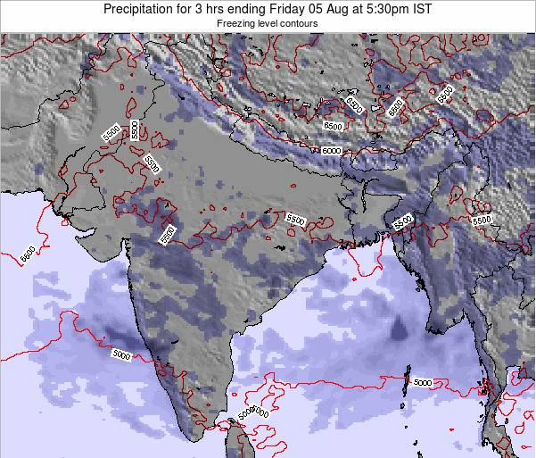 Bangladesh Precipitation for 3 hrs ending Sunday 26 Feb at 11:30pm IST