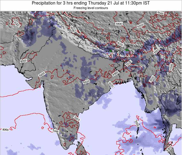 Bangladesh Precipitation for 3 hrs ending Sunday 27 Apr at 11:30pm IST