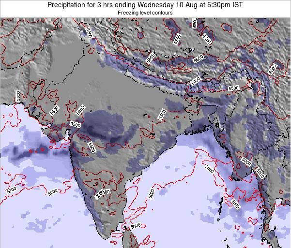 Bangladesh Precipitation for 3 hrs ending Friday 24 May at 5:30pm IST