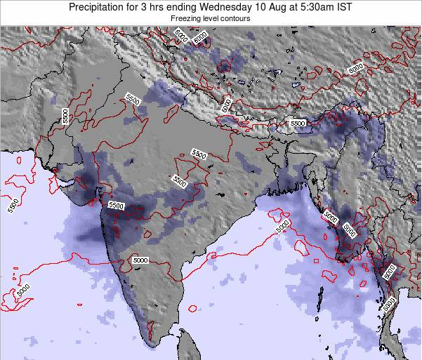 Bangladesh Precipitation for 3 hrs ending Tuesday 29 Jul at 11:30pm IST