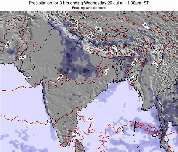Bangladesh Precipitation for 3 hrs ending Wednesday 01 Jun at 11:30am IST