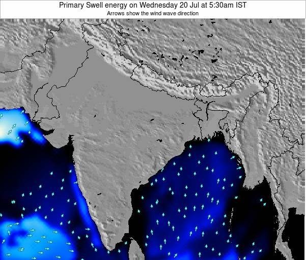 Nepal Primary Swell energy on Thursday 28 Mar at 5:30pm IST map