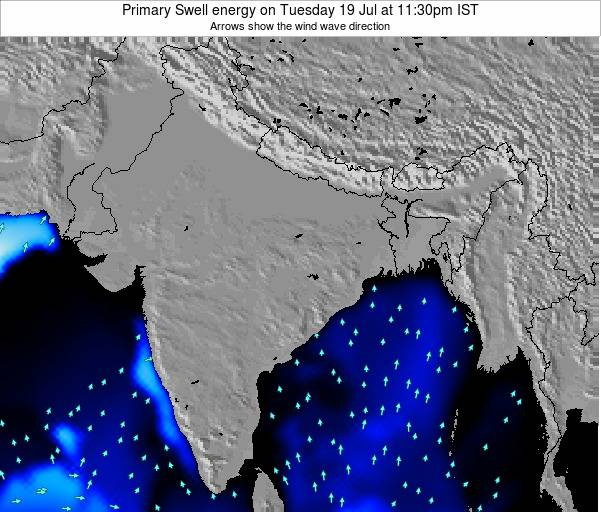 Nepal Primary Swell energy on Wednesday 20 Mar at 5:30am IST map