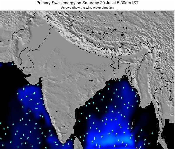 Nepal Primary Swell energy on Friday 29 Mar at 5:30am IST map